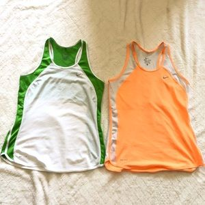 Two Nike athletic tanks/ s